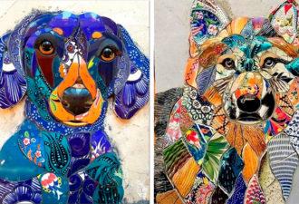 Яркие трёхмерные мозаики от мастерицы из Бразилии