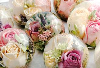 Как при помощи глицерина сделать сувениры из цветов