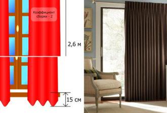 Простой способ рассчитать количество ткани для самостоятельного пошива штор