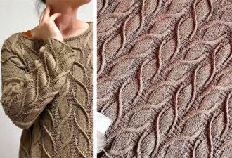 Бесподобный узор и модный джемпер от Норы Гоан