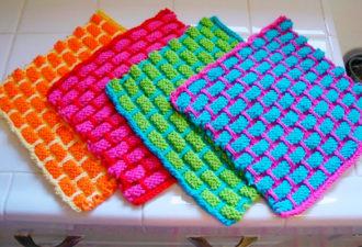 Вязание мочалок для детей и взрослых