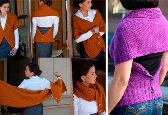 Модная идея: вяжем шарф-трансформер