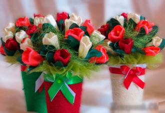 Цветы из атласных лент: пошаговые инструкции