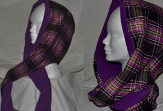 Как сшить модный шарф-хомут с капюшоном