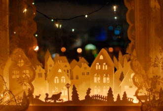 Новогодний декор: создаем волшебный город из бумаги