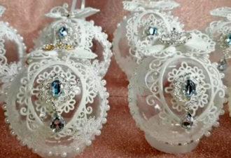 Очень красивые новогодние шары, которые станут главным украшением праздника
