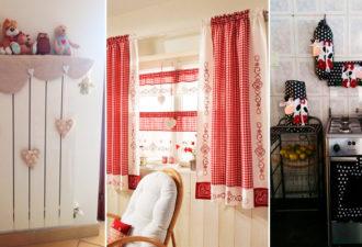 Текстильный декор для дома из остатков ткани. Нежно и уютно