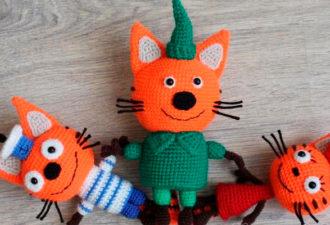 Мастер-класс: вязание котенка Компота из мультфильма «Три кота»
