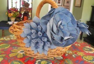 Джинсовые цветочки