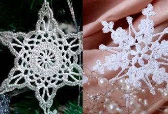 Новогоднее вдохновение: схемы снежинок, вязаных крючком