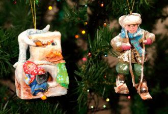 Чудесные новогодние игрушки из ваты от мастера Анны
