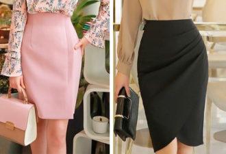 Идеи фасонов юбок на основе юбки-карандаш