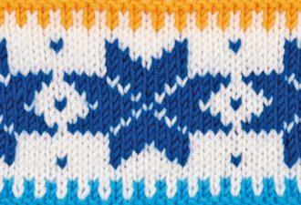 Норвежская звезда: отличный узор для кофт и свитеров