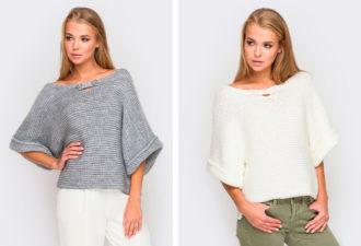 Чем проще, тем моднее: стильный пуловер платочной вязкой