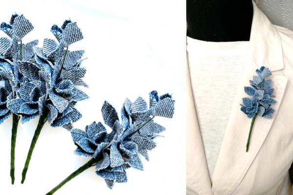 Мастер-класс: букет цветов из джинсовой ткани