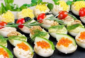 Фаршированные яйца: подборка вкуснейших начинок
