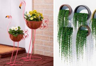 Идеи подставок для растений