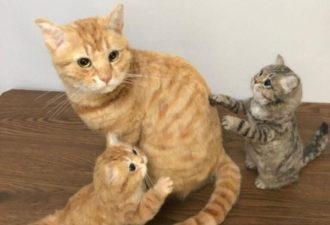 Невероятные кошки в технике валяния из шерсти: идеи для творческого вдохновения