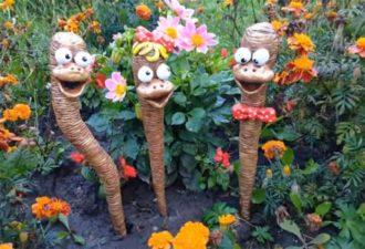 Садовые фигурки, которые понравятся всем. Бюджетно и красиво