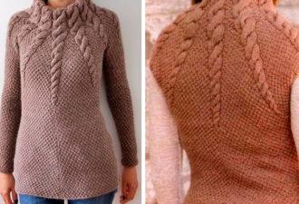 Красивый длинный свитер