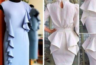 Моделирование одежды с воланами