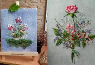 Стильная авторская вышивка Розы Андреевой: композиции, достойные восхищения