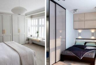 Идеи гардероба для маленькой спальни