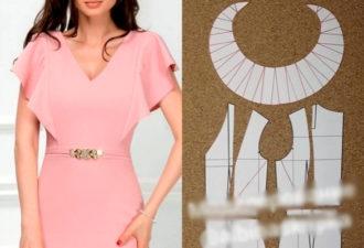 Нежное романтическое платье с рукавами, созданными из воланов
