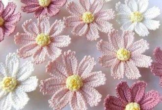Милые цветы крючком