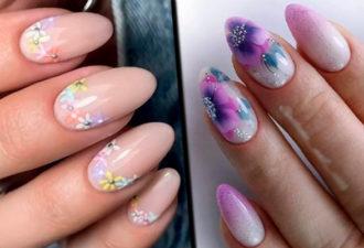 Цветочное настроение – маникюрный дизайн для первых дней весны