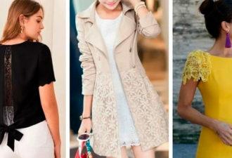 Преобразите одежду кружевом: 12 элегантных идей