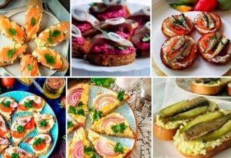 9 вкуснейших вариантов праздничных бутербродов
