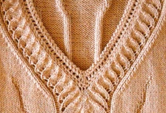 Красивое оформление горловины пуловера