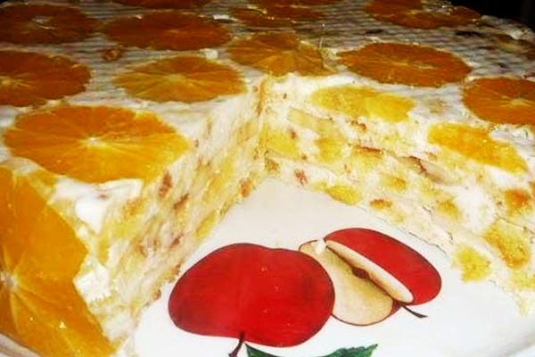 Торт «Фруктовая нежность»