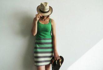 Летнее платье из двух футболок