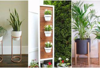 15+ лучших и стильных идей подставок для растений в 2021 году