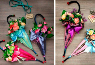 Делаем декоративные зонтики