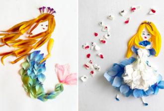 Невероятные цветочные аппликации