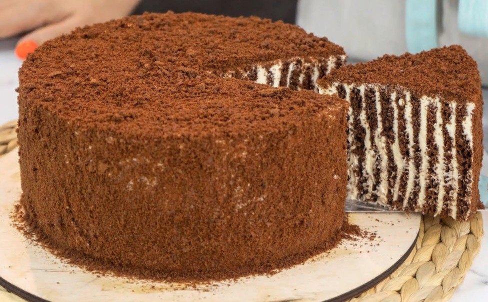 Легендарный торт «Спартак». Шоколадный, нежный и очень красивый, особенно в разрезе