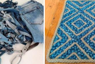 Очаровательный коврик из старых джинсов: такую красоту хоть на продажу выставляй, сметут на раз два