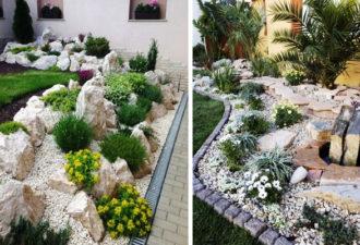Как создать красивый ландшафтный дизайн с помощью камней: идеи