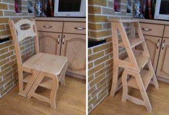 Чертеж стула-трансформера
