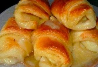 Слойки с яблоками: бесподобный десерт