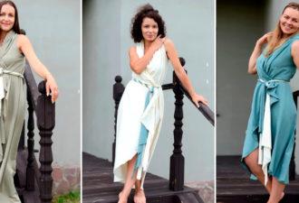 Красивое и простое платье-круг и даже без выкройки за 1 час