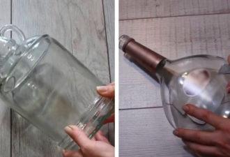 Красивые стеклянные бутылки есть у всех. Предлагаем вам красивый декор из простого материала