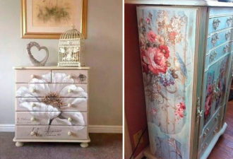 Идеи декупажа старой мебели