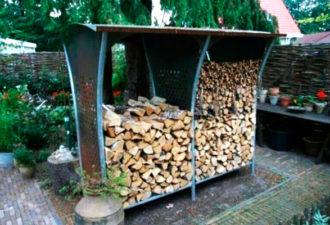 Идеи для хранения дров на даче
