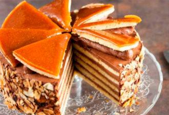 Венгерский прославленный торт «Добош» с великолепным вкусом