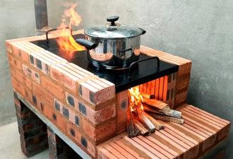 Печка-мангал из кирпича: Рассказываем, как сделать своими руками