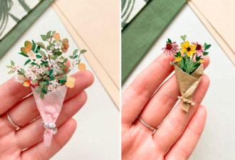 Букеты в миниатюре